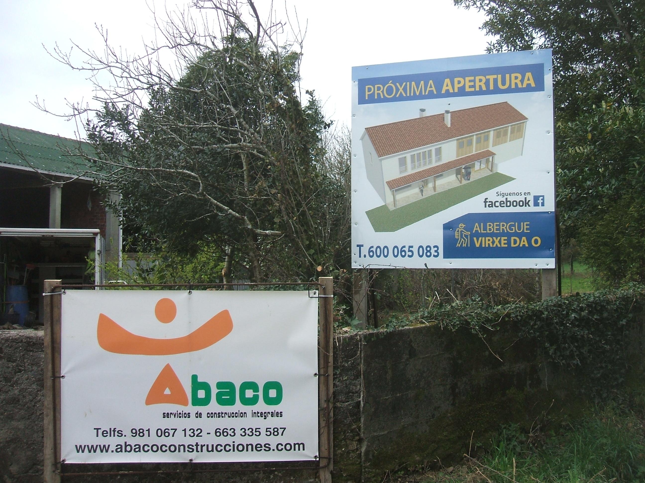 Nuevo albergue en construcción en Mazaricos